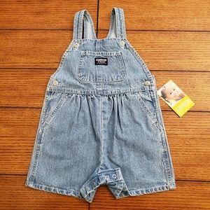 Oshkosh baby denim overall shorts